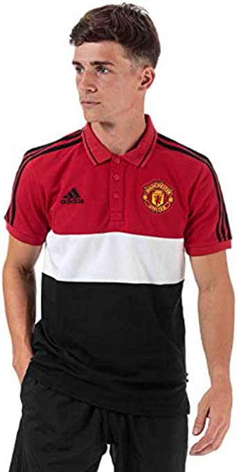 Adidas Men S Manchester United Polo Shirt In Red Amazon Co Uk Clothing