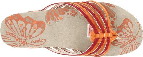 Cushe uw00930Damen Atala Sandalen, Orange/Rot