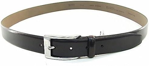 42 Hugo Boss UGOS Mens Genuine Leather Medium Brown Belt Sz