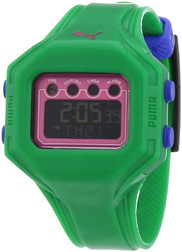 Puma Ladies Watch Digital Bounce- S Green Quartz A.PU910772007