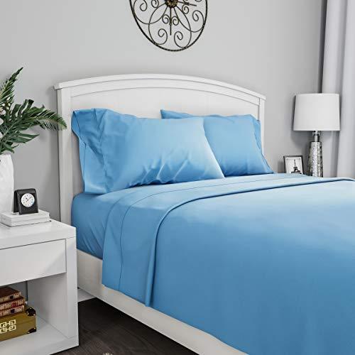 Lavish Home 1200 3-Piece Sheet Set, Twin, Blue