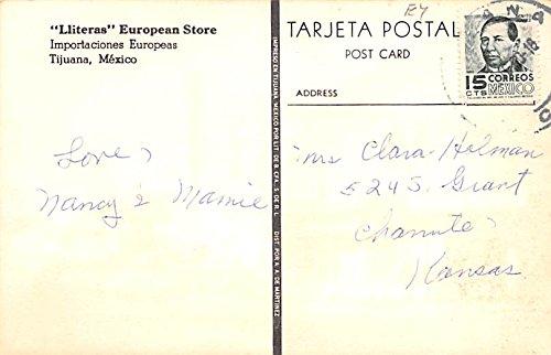 Amazon.com: Lliteras European Store Tijuana Mexico Postcard ...