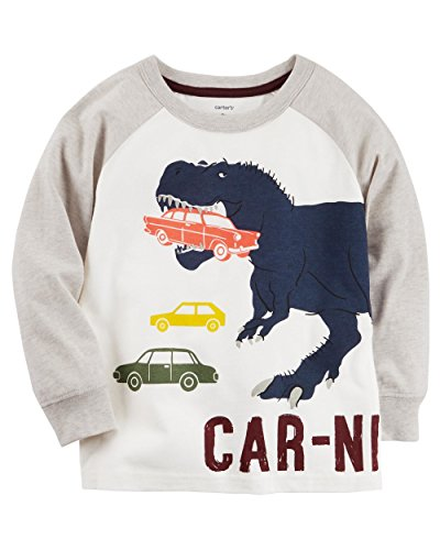 Carter's Boys' 2T-8 Long Sleeve Carnivore Tee 3T Carters Long Sleeve Raglan Tee