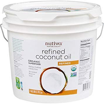 Nutiva Refined Coconut Oil - Gallon (Nutiva Organic Unrefined Extra Virgin Coconut Oil)