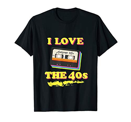 40s Costume Birthday T-Shirt for 1940s Party men