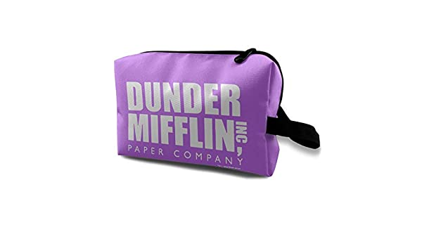 52578a4d53fd Amazon.com: Dunder Mifflin Inc Paper Company Makeup Bag Travel ...