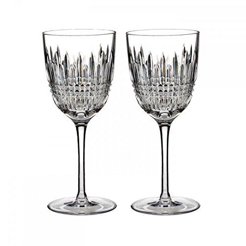 Waterford Set of 2 Lismore Diamond White Wine Glasses