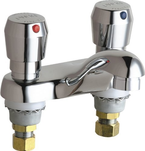 Chicago Faucets 802-VE2805-665ABCP Universal Deck Mounted Metering Faucet by Chicago