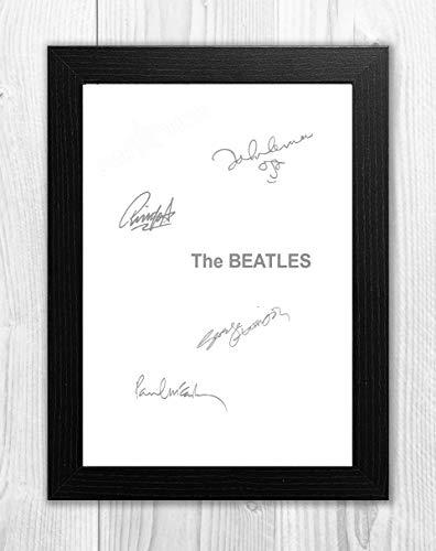 Engravia Digital The Beatles White Album Reproduction Signed Poster Photo A4 PrintBlack Frame