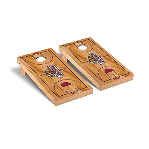 (Victory Tailgate Regulation Collegiate NCAA Basketball Court Series Cornhole Board Set - 2 Boards, 8 Bags - Indiana Purdue Jaguars)