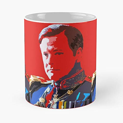 Colin Firth The King's Speech Classic Mug - Funny Coffee Mugs For Halloween, Holiday, Christmas Party Decoration 11 Ounce White-jimwendler.