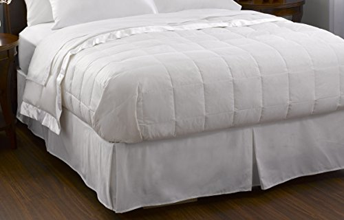 Pacific Coast Feather Company 67806 Down Blanket, Cotton Cover with Satin Border, Hypoallergenic, Full/Queen, White