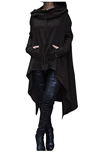 Aifer Women's Asymmetrical Hem Long Sleeve Hoodies Sweatshirts Tunic Tops