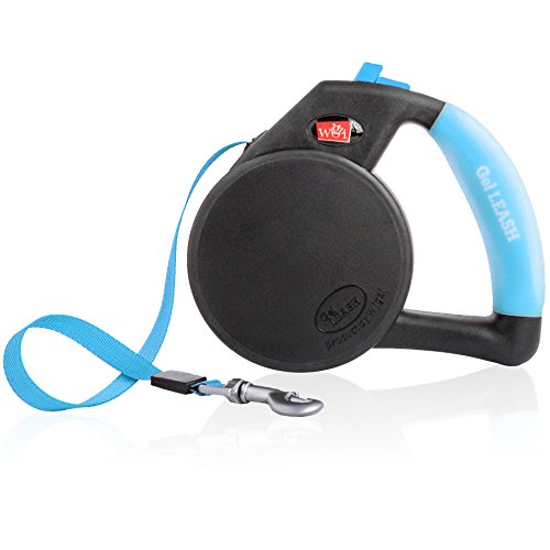 Dog Leash - Retractable Gel Pet Leash - World's Most Comfortable Handle - Blue Large