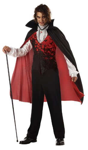 Prince Of Darkness Vampire Costumes (California Costumes Men's Prince Of Darkness Costume,Blonde/Blue,Large)