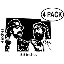 Cheech and Chong Stickers Vinyl 4 Stickers 4X6 Inches Decals Up in Smoke Corsican Brothers