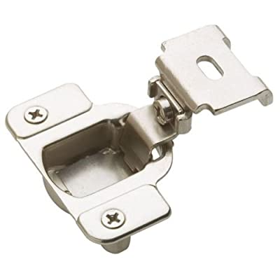 Amerock BP2811C1314 Matrix Concealed Hinge, 1-3/4in(45mm) Hole Pattern Hinge with 1-1/4in(32mm) Overlay - Nickel