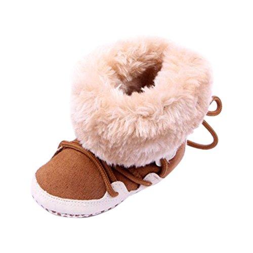 ROPALIA Baby Winter Schneestiefel Krippe Kleinkind Warme Boots Schuhe Weiche Sohle