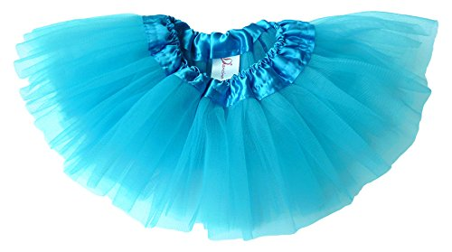 [Dancina Tutu Baby Ballerina Birthday Cakesmash Photoshoot Prop Costume Dress 6-24 months Turquoise] (Baby Megamind Costume)