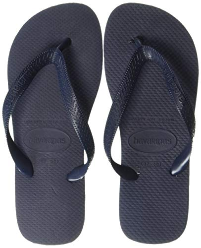 Havaianas Rubber Sole Sandals - Havaianas Women's Top Flip Flop Sandal,Navy, 35/36 BR(5-6 M US Women's)