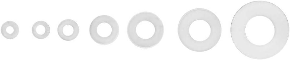 350pcs Nylon Washers M2//M2.5//M3//M4//M5//M6//M8 O-Ring Flat Spacer Flat Gasket Ring Kit