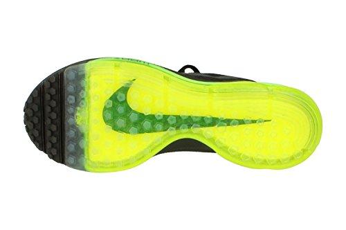 Nike Frauen Zoom All Out Flyknit Laufschuhe Schwarz Schwarz Volt 001