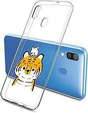 Oihxse Funda Samsung Galaxy M30s, Ultra Delgado Transparente TPU Silicona Case Suave Claro Elegante Creativa Patrón Bumper Carcasa Anti-Arañazos Anti-Choque Protección Caso Cover (A1)
