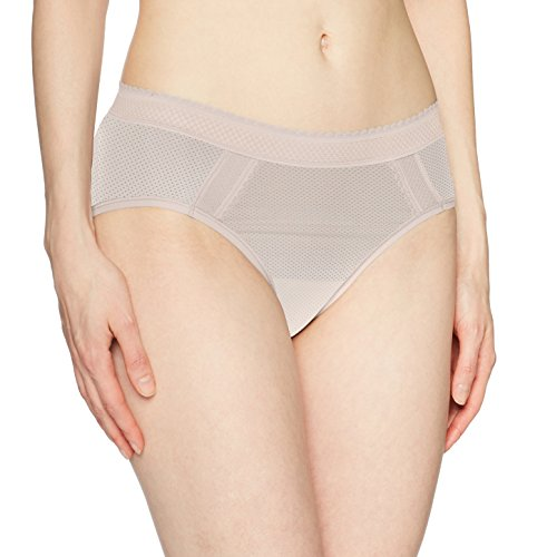 Warner's Women's Breathe Freely Hipster Panty, Rose Water, L ()