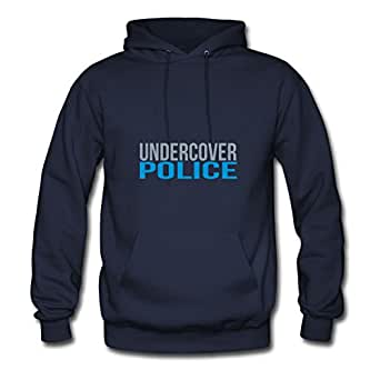 Personalized Police Cotton Women Diatinguish X-large Hoodies Navy
