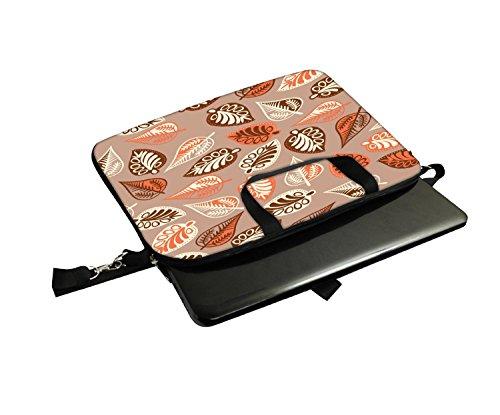 Snoogg Multicolor Leaves Laptop Netbook Computer Tablet PC Schulter Schutzhülle mit Sleeve Tasche Halterung für Apple iPad/HP TouchPad Mini 210/Acer Aspire One und die meisten 24,6cm 25,4cm 25,7cm