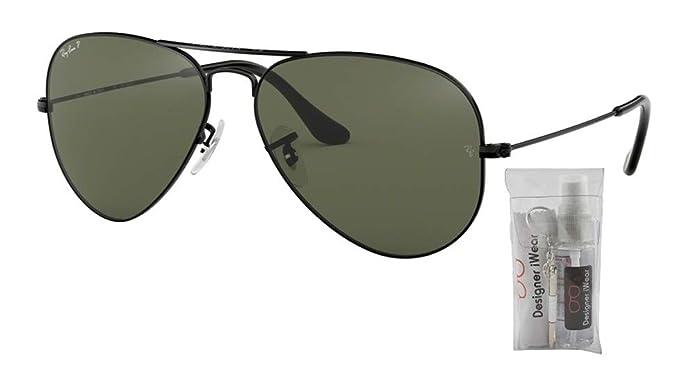 Amazon.com: Ray Ban RB3025 AVIATOR Gafas de sol polarizadas ...