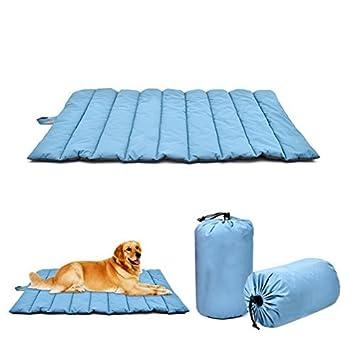 UKCOCO Colchón para perros Colchón para mascotas Cojín de cama impermeable grande impermeable de la estera del perro para el viaje al aire libre (azul): ...