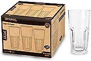 Jogo 6 Copos De Vidro Para Suco/Agua/Refrigerante 340ml