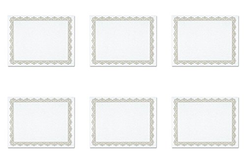 Optima Gold Border (Geographics Parchment Paper Certificates, 8-1/2 x 11, Optima Gold Border, Pack of 25, 6 Packs)