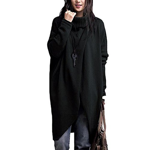 Chandail Manteau Cape Femme Laine Noir Tircot Pullover Poncho Tricotr Châle OTac78Tq