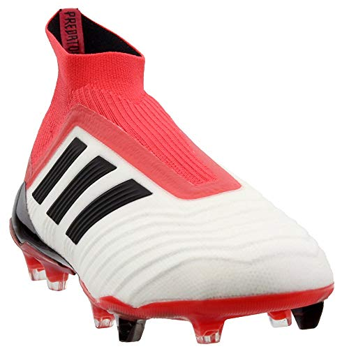 - adidas Mens Predator 18+ Firm Ground Soccer Athletic Cleats Red;White 8.5