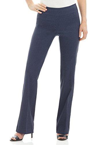 Rekucci Women's Ease In To Comfort Boot Cut Pant (14,Indigo)