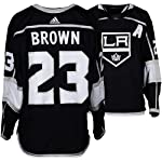Dustin Brown Los Angeles Kings Game-Used  23 Black Jersey with Assistant  Patch. b9b679784