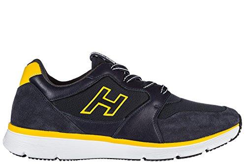 Hogan Menns Sko Semsket Joggesko Joggesko H254 T2015 H Flokk Blu