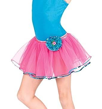 Child Rose Tutu Skirt,PC025FUC,Fuchsia,One-Size