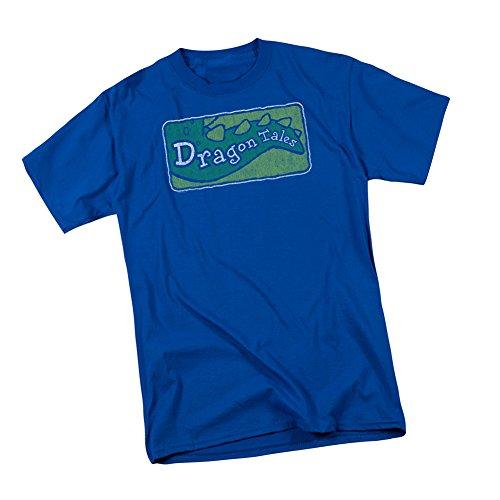 Distressed TV Show Logo -- Dragon Tales Adult T-Shirt
