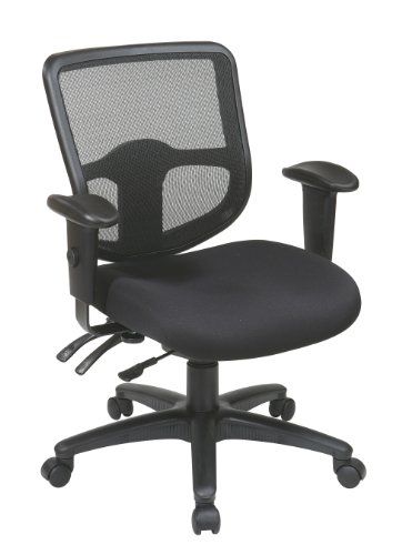 Office Star Ergonomic ProGrid Back Task Chair with Ratchet B