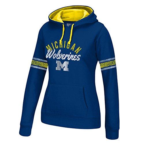 NCAA Michigan Wolverines Women's Essential Arm Stripe Hoodie, Medium, (Wolverines Hoodie)