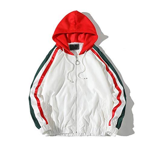 Con Camicia Sottile Cappuccio Maniche E Inverno Da Moda Jerfer A Giacca Bianco Autunno Maglia Lunghe Uomo X7wzvcHq
