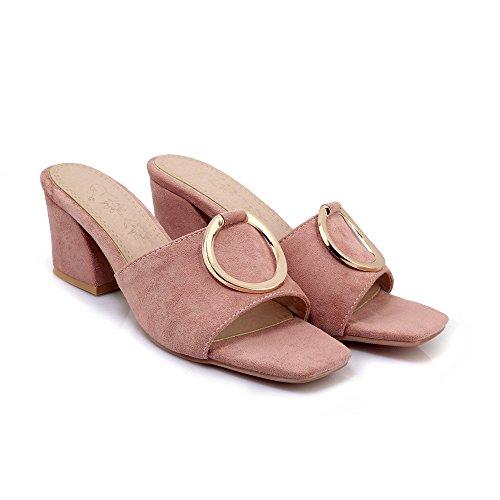 Heels amp;x Flip Qin Flop Block Sandals Pink Women's qawzxPIS