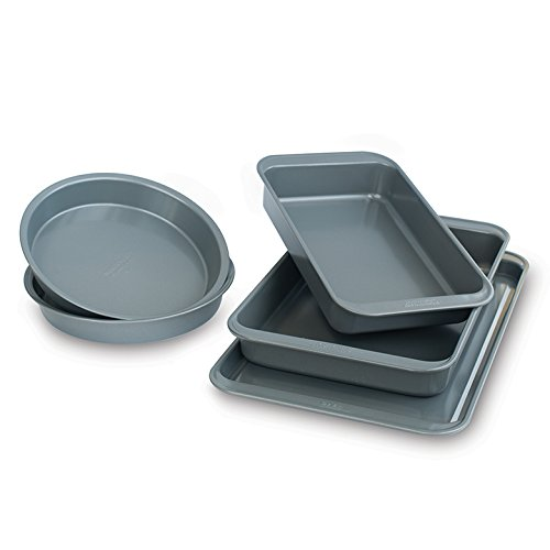 Nordic Ware 23006 Baking Essentials Bakeware Set, Silver