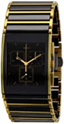 Rado Men's R20851162 Integral Black Ceramic and PVD Bracelet Watch