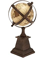 Deco 79 Aluminum Globe with 6-Inch Nautical Maritime Decor, 12-Inch