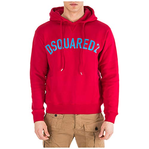 DSQUARED2 Men's Cool Fit Hoodie Red Medium
