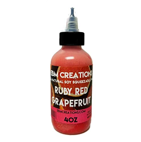 Ruby Red Grapefruit - Squeezable Wax Bottle 4oz - All Natural Soy Wax Highly Scented!